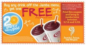 Jamba Juice 20th Anniversary
