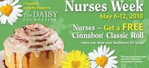 nurses week free cinnabon