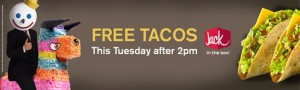 Free Tacos Jack in the Box
