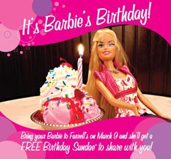 free ice cream with barbie