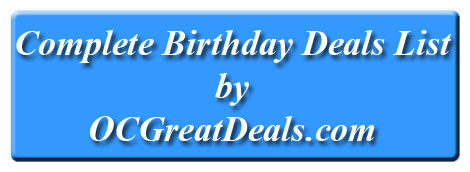 free birthday deals list