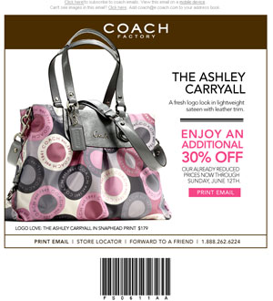Orange County Coach Coupon