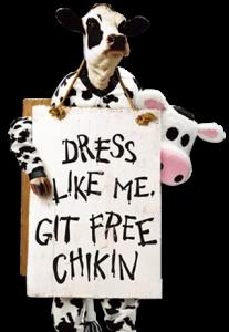 dress like a cow appeciation