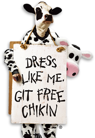 dress like a cow appeciation