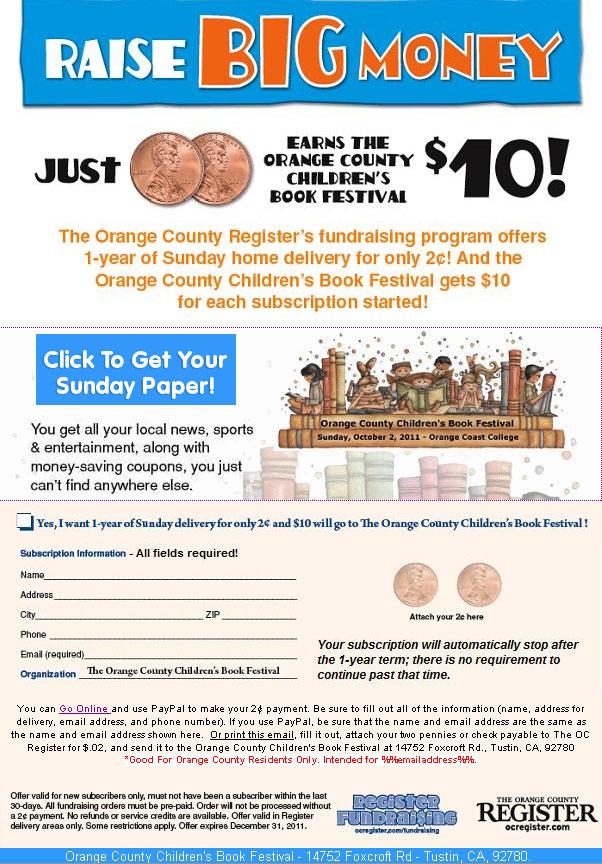 OC Children's Book Fair Register Subscription offer
