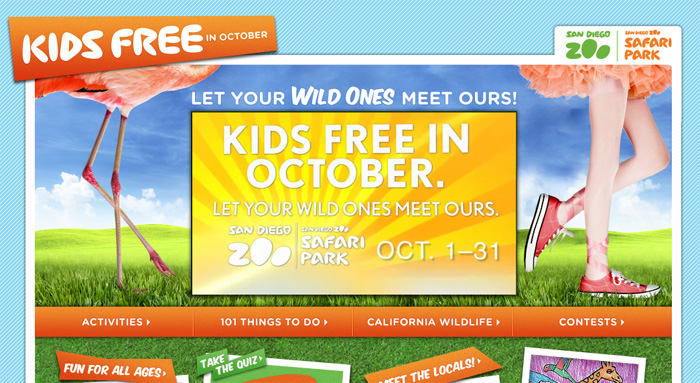 October free kids admission