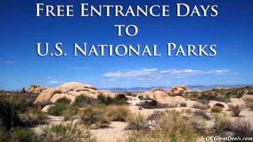 Free Entrance Days U.S. National Parks