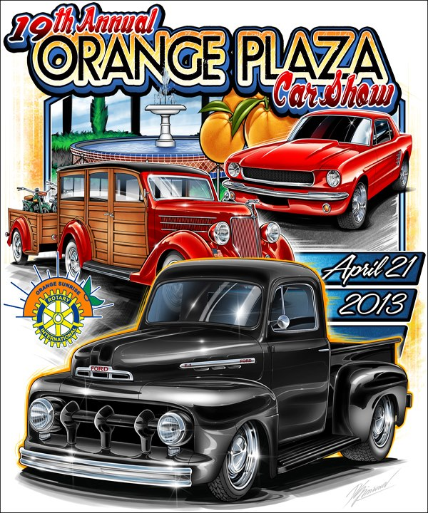 Orange Plaza Car show